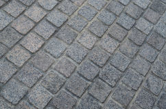 Gray cement block pavement stock photos