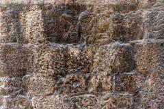 Gray cement brick wall Stock Photo