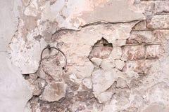 Gray Cement gammal arkitektur Smutsiga tegelstenar Arkivbilder