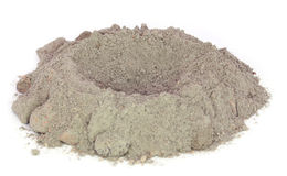 Gray cement powder Royalty Free Stock Photography