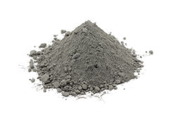 Gray cement powder Stock Images