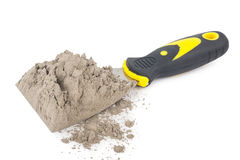 Free Gray Cement Powder With Trowel Royalty Free Stock Photo - 81510875