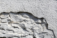 Gray Cement Wall Royaltyfri Fotografi
