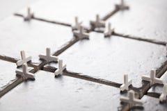 Gray ceramic tiles closeup Stock Image