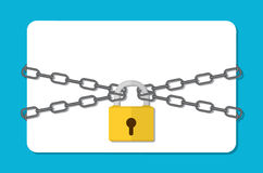 The gray chain and padlock, Stock Image