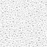 Gray chaotic heart pattern. Seamless vector background Stock Photos