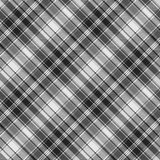 Gray check fabric texture seamless pattern. Vector illustration Stock Photo