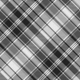 Gray check fabric texture seamless pattern. Vector illustration stock illustration