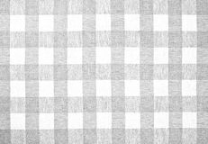Gray checked fabric tablecloth. Background Stock Photo