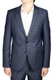 Gray checkered blazer men wedding gown groom, isolated over whit Royalty Free Stock Photo