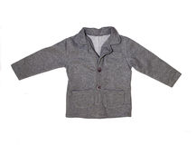 Gray children's jacket Royalty Free Stock Photography
