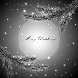 Gray Christmas background vector illustration