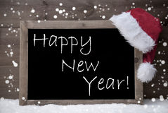 Gray Christmas Card, Bord, Gelukkig Nieuwjaar, Sneeuw Royalty-vrije Stock Afbeelding