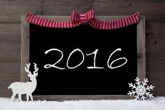 Gray Christmas Card, Schnee, Schleife, glückliches Wochenende Lizenzfreies Stockbild