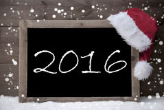 Gray Christmas Card, Tafel, 2016, Schnee Lizenzfreie Stockfotografie