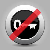 Gray chrome button - no key Royalty Free Stock Photo