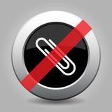 Gray chrome button - no paper clip vector illustration
