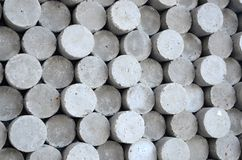 Gray circle cylinder concrete shapes Royalty Free Stock Image