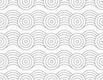 Gray circles on bulging waves Stock Photo