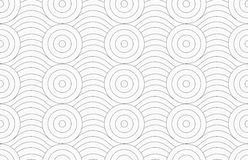 Gray circles merging with continues lines Royalty Free Stock Photo