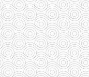 Gray circles merging with wavy lines Royalty Free Stock Images