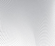 Gray circles on white background. Halftone wave texture. Vector Royalty Free Stock Photo