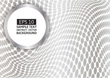 Gray circular point wave abstract vector background Stock Image