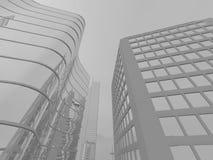 Gray city background Stock Photography