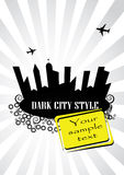 Gray City Design. Vector illustration of gray city design with yellow elements Stock Image