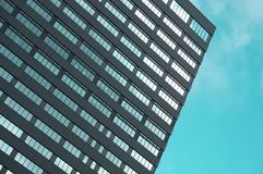 Gray and Clear Glass High Rise Building at Daytime in Low Angle Photo Stock Photography