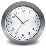 Gray clock Royalty Free Stock Photo