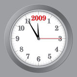 Gray Clock 5 to 2009 Royalty Free Stock Image