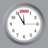 Gray Clock 5 to 2009 Royalty Free Stock Image