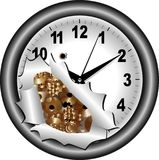 Gray watch with gears Stock Image