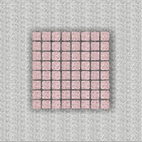 Gray cloth. Gray canvas with pink details Royalty Free Stock Image