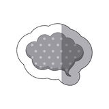 Gray cloud chat bubble icon. Illustraction design image Stock Images