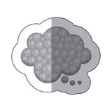 Gray cloud chat bubble icon. Illustraction design image Royalty Free Stock Photos