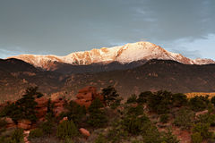 Gray Clouds Above Pikes Peak Royalty Free Stock Image