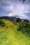 Gray Clouds au-dessus de Blencathra Photographie stock libre de droits