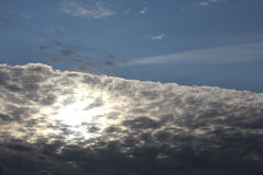 Gray clouds in blue sky  Royalty Free Stock Photo