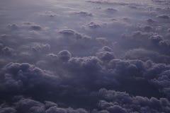 Gray Clouds de una altura Fotografía de archivo libre de regalías