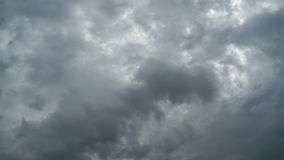 Gray Clouds are Moving in the Sky. Time Lapse stock video footage
