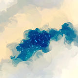 Gray clouds with stars. Abstract illustration. Royalty Free Stock Images