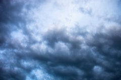 Gray cloudy sky Stock Photography