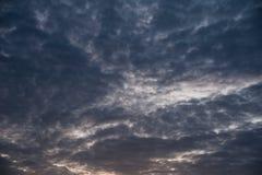 Gray cloudy sky before rain Royalty Free Stock Photography