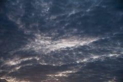 Gray cloudy sky before rain Stock Photos