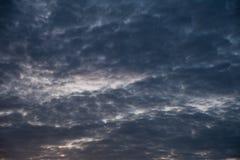 Gray cloudy sky before rain Royalty Free Stock Image