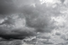 Gray cloudy sky. Royalty Free Stock Images