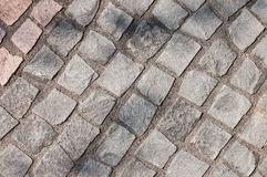 Gray cobblestones Royalty Free Stock Images