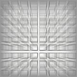 Gray color abstract infinity background, 3d structure with rectangles forming illusion of depth and perspective, vector. Illustration royalty free illustration